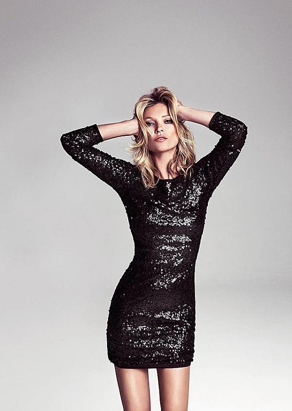 Kate Moss abito sexy glamour Mango